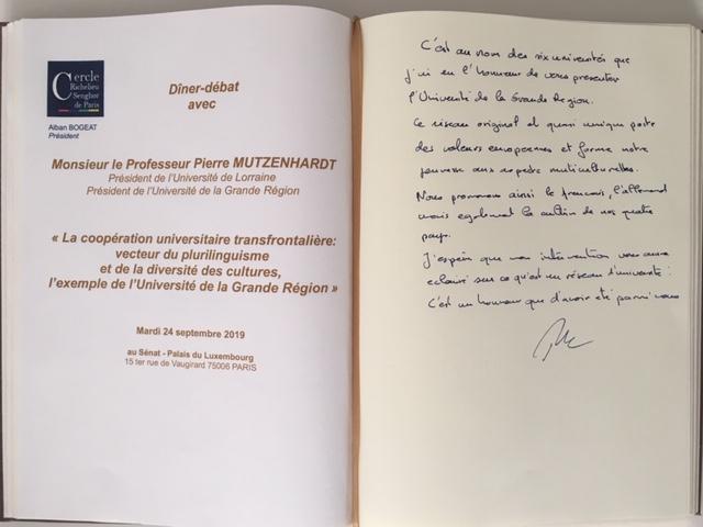 Livre d'or du Cercle du 24 09 2019