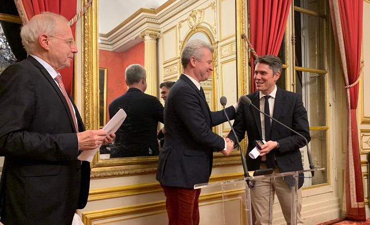 Remise du Prix à M. Vallet